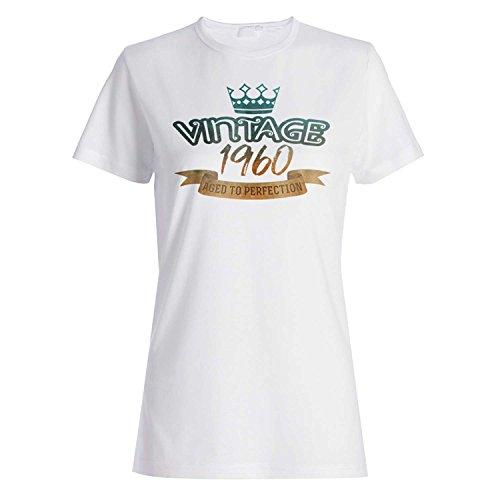 Weinlese 1960 gealtert zur Perfektion, die in geboren wurde Damen T-shirt kk59f