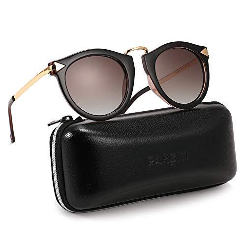 Round Polarized Sunglasses for WomenArrow Style TR90 Frame Oversized Cateyes Eyewear PZ9231