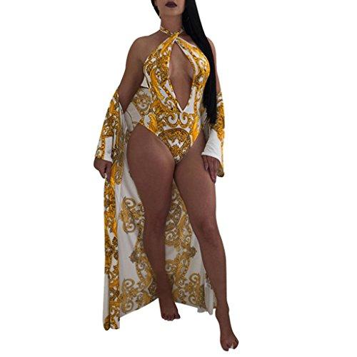 - DIANA'S Tops Women Sexy Ladies Flower Print Jumpsuits Smock Cloak Two Piece Set