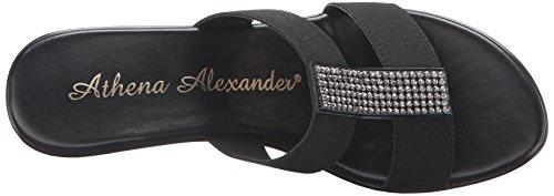 Elastic Womens Sandal Schwarz Alexander Wedge Athena Finola OYfw8qI5