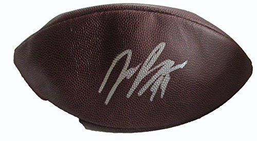 Joey Bosa Autographed Wilson NFL Football W/PROOF, Picture of Joey Signing For Us, San Diego Chargers, Los Angeles Chargers, Ohio State Buckeyes, Pro Bowl, Defensive Rookie of the Year