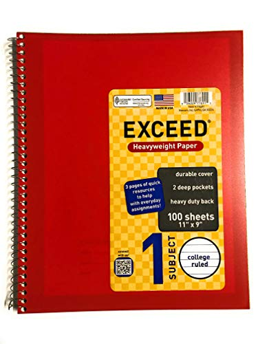 Exceed Plus College ruled