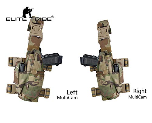 Paintball Equipment Airsoft Hunting Pistol Holster Tactical Tornado Universal Tactical Thigh Holster Multicam (Right)