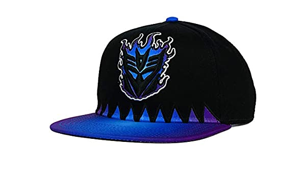 Transformers Flame Decepticons Youth Boys Baseball Hat Cap Purple//Black