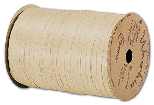 Solid Raffia - Matte Wraphia Ivory Ribbon, 1/4