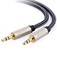 UGREEN Professional HiFi 3.5mm Male to Male Auxiliary Aux Stereo Cable with Silver-Plating Copper Core, Gold Plated, Nylon Braid, Tangle-Free for for Audiophile/Musical lovers, 10ft