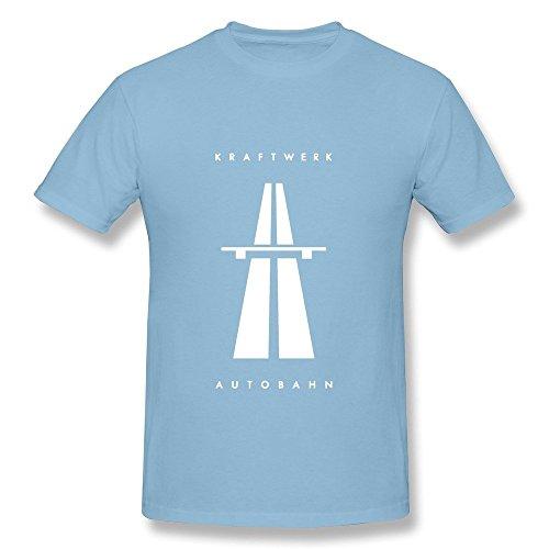 HUBA Men's T-shirt Kraftwerk Autobahn SkyBlue Size M