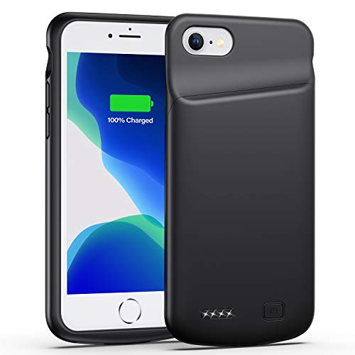Smiphee Battery Case for iPhone 6 6s, 4500mAh Portable ProtectiveCharging Case Compatible with iPhone 6 6s(4.7 inch) Extended Battery Charger Case (Black)