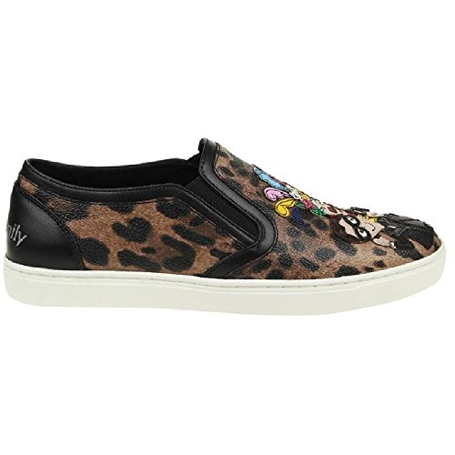 Dolce&gabbana Women's Multi-color Leather Slip-ons Shoes - Size: 39 (Dolce & Gabbana Leather Flats)