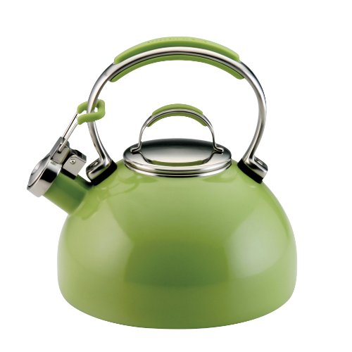 KitchenAid Teakettle 2-Quart Gourmet Essentials Porcelain Enamel Kettle, Green Apple
