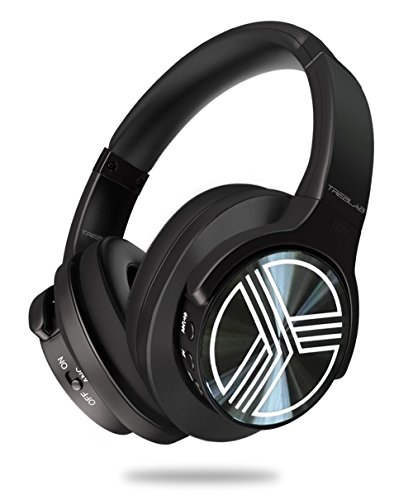 TREBLAB Z2 - Supreme Bluetooth Wireless Headphones - Active Noise Cancelling T-Quiet, Flawless aptX Sound, Neodymium 40mm Speakers, Cloud-Like Comfort Best for Airplane Travel, Office - Microphone by Treblab
