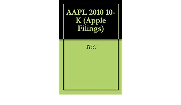 2010 10 K APPLE DOCUMENT Original (PDF)