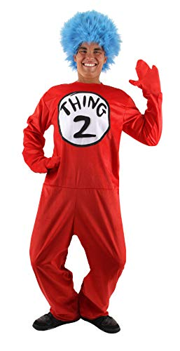 Dr. Seuss Thing 1 and 2 Deluxe Costume Adult (L/XL) by elope (Thing One And Thing Two Costumes For Teens)