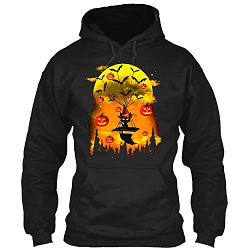 Fshinging Plus Size Women Men Sweatshirt Halloween Pumpkin Devil Pullover Shirt Autumn Hoodie Blouse Top{Black,M}