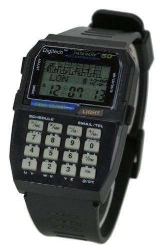 DigiTech CALC2 Black Data Bank Calculator Watch (Watch Calculator Vintage)