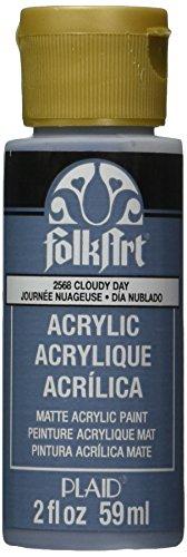 Plaid:Craft Folk Art Acrylic Paint, 2-Ounce, Cloudy Day - Home Folk Art