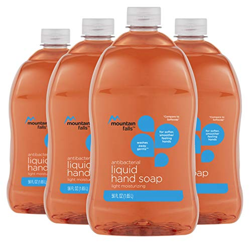 - Mountain Falls Light Moisturizing Antibacterial Liquid Hand Soap, 56 Fluid Ounce (Pack of 4)