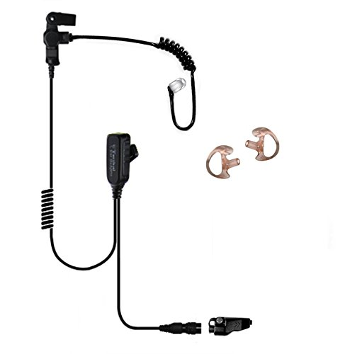 Tactical Ear Gadgets Hawk Lapel Microphone with Quick Release for Kenwood NX and TK Series Multi-Pin Radios (Black Tube) by Tactical Ear Gadgets