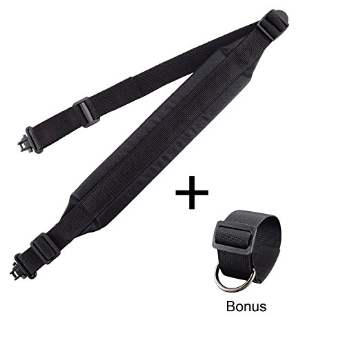able Strap Two Point Gun Sling Rifle Sling Swivel with Buttstock Attachment Kit – Bundle by BOOSTEADY (Shotgun Shoulder Strap)