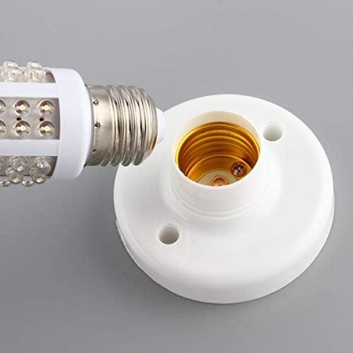 Zinniaya Utile E27 Ronde En Plastique Vis /À Vis Ampoule Lampe Douille Titulaire Blanc E27 Base Lampe /À Douilles Populaire Support de Lampe