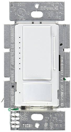 Lutron Maestro LED Dimmer switch with motion sensor, no neutral required, MSCL-OP153M-WH, White2-PACK (Sensor Dimmer)
