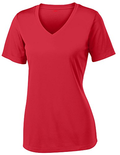 Opna Women's Short Sleeve Moisture Wicking Athletic Shirt, X-Large, Red -