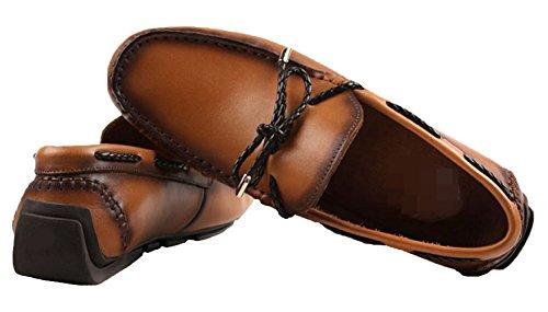Santimon-mens Bekväma Äkta Läder Körning Skor Horsebit Mockasiner Dagdrivaren Doug Skor Brun