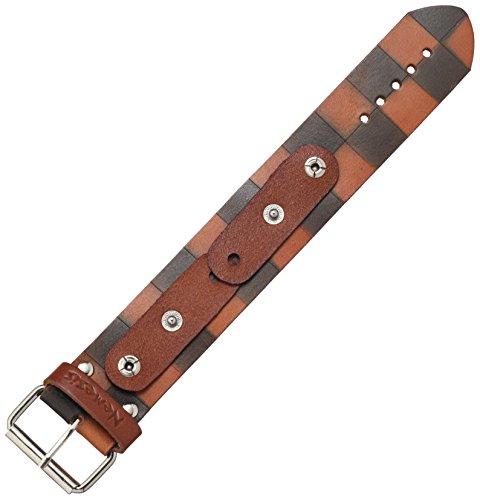Nemesis CHDB 38mm Checkered Dark Patent Leather Brown Watch Bracelet