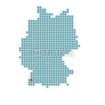 Poster Bild 80 X 80 Cm Markierung Von Freiburg Auf Vereinfachter