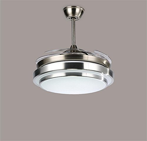 HOMEE Ceiling Chandelier-Led Fan Lights Automatic Retractable Invisible Living Room Dining Bedroom Fan Lights by HOMEE