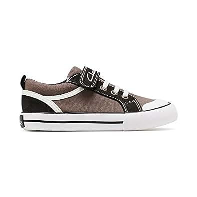 Clarks Boys Devon-B Fashion Shoes, Grey/Multicolor, Size 1
