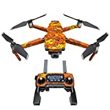 Cheap Digital Orange Camo Decal Kit for DJI Mavic 2/Zoom Drone – Includes 1 x Drone/Battery Skin + Controller Skin