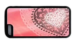 Hipster girly iPhone 5C case abstract love heart TPU Black for Apple iPhone 5C