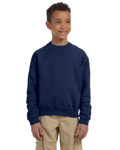 Jerzees boys NuBlend Crew Neck Sweatshirt(562B)-J NAVY-L (Jerzees 562b Sweatshirt)