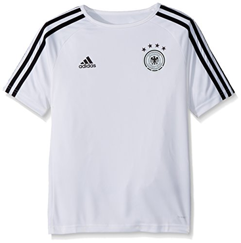 Germany Adidas Soccer Jersey (adidas World Cup Soccer Germany Youth Soccer Germany Home Fanshirt, Large, White/Black)