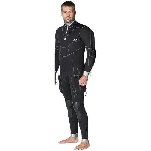 Waterproof SD Combat 7mm Semi-Dry Men's Full-Suit, Black