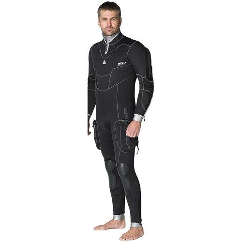 Waterproof SD Combat 7mm Semi-Dry Men's Full-Suit, Black
