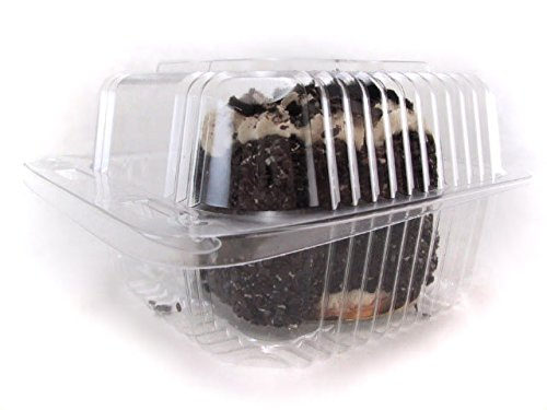 Clear Plastic Hinged Square Dessert/Food Container 5'' x 5'' #CPC555 (50)