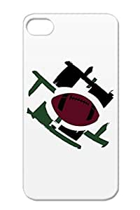 Football Logo TPU Case Cover For Iphone 4s Black Football Sports
