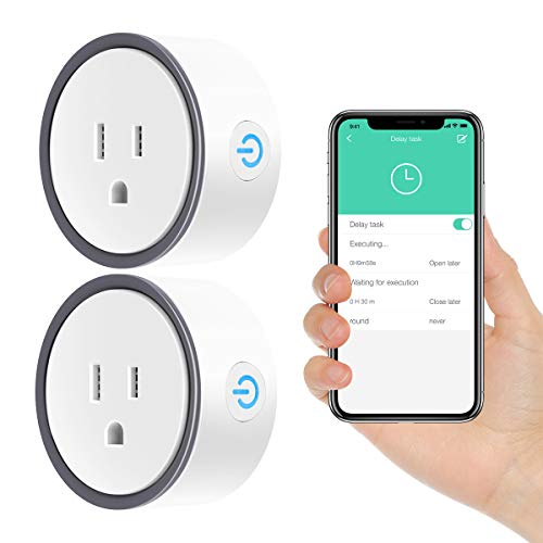 WiFi Smart Plug Mini, Konke WiFi Outlet Plug with Alexa, Google Home and IFTTT, No Hub Required Remote Control Your Home Appliances from Anywhere 2 Pack