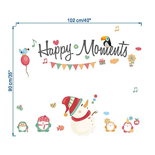1 piece Christmas Wall Sticker Removable DIY Shop Window Stickers Noel Christmas Decorations for Home Natal New Year Decoration