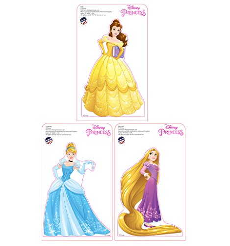 Mini Disney Princesses Standees 2016 (3 pack: Belle, Cinderella and Rapunzel) - Advanced Graphics Mini Cardboard Standup 3-Pack - Princess Little Mini