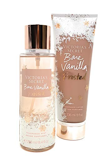 Victoria's Secret Bare Vanilla Frosted Body Mist and Fragrance Lotion Limited Edition Set