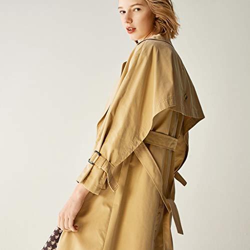 longues Windbreaker Manteaux taille Vestes cordon la femmes de dans Vêtements Brown étudiantes serrage Cachemire xHqgX6qd