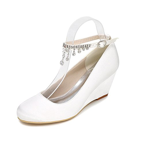 9140 Heeled White YC Multi Toe L Close 05 Shoes Wedding Customization Shoes Women Tie High Color Wedge P 4qqYwTv