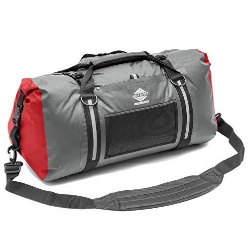 Aqua Quest White Water Duffel - 100% Waterproof 75 L Bag - Lightweight, Durable, External Pockets - ()