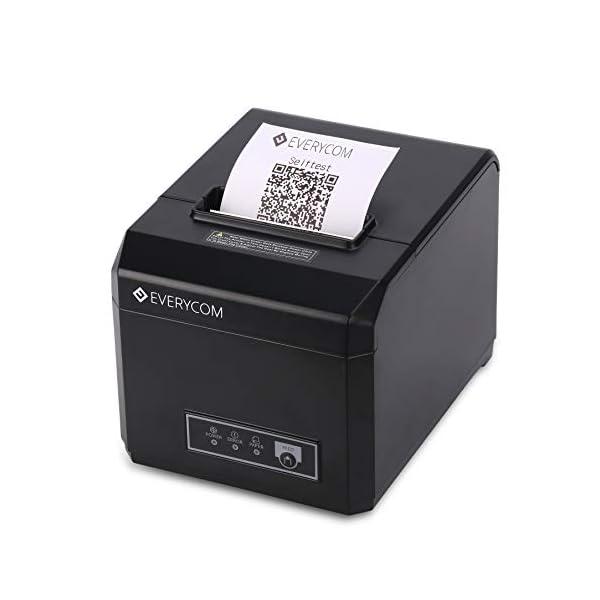 Everycom EC-801 80mm (3 Inches) Direct Thermal Printer - Monochrome - Desktop - Auto Cutter - Receipt Print (EC801UL)