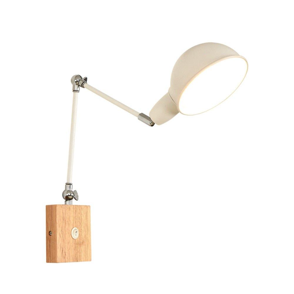 MMYNL Moderne E27 Vintage Wandleuchte für Schlafzimmer Wohnzimmer Bar Bad Küche Retractable Veranda Lampe Study Desk Reading Light, Durchmesser 15cm
