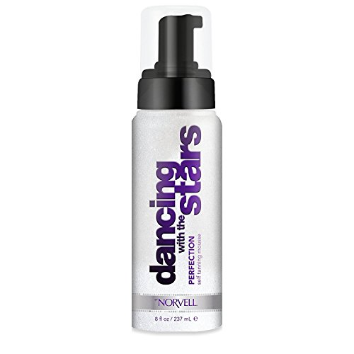 Dancing With The Stars Perfection Sunless Self-Tanning Mousse with Bronzer - Instant Natural Looking Bronzing Glow, 8 fl.oz. (Mist Instant Self Tanning Spray)