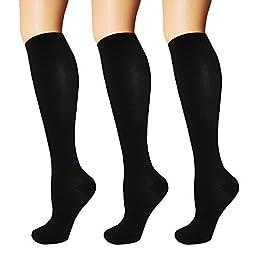 3/5 Pairs Compression Socks Women & Men – Best Medical,Nursing,Hiking,Travel & Flight Socks-Running & Fitness